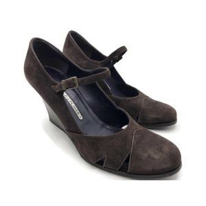 Donald J Pliner Womens Mary Jane Shoes Brown Heels